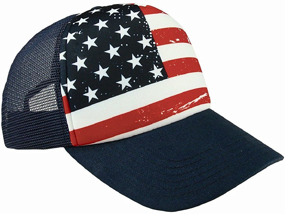 0489adf9acd Amazon.com  Shop4Ever USA American Flag Hat ~ 4th of July ~ Patriotic Cap  (Navy)  Clothing