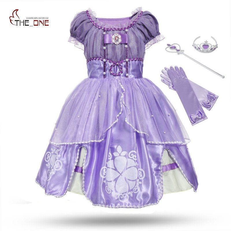 US $16.88 MUABABY Princesa Summer Dresses Girls Sofia Cosplay 5 ...