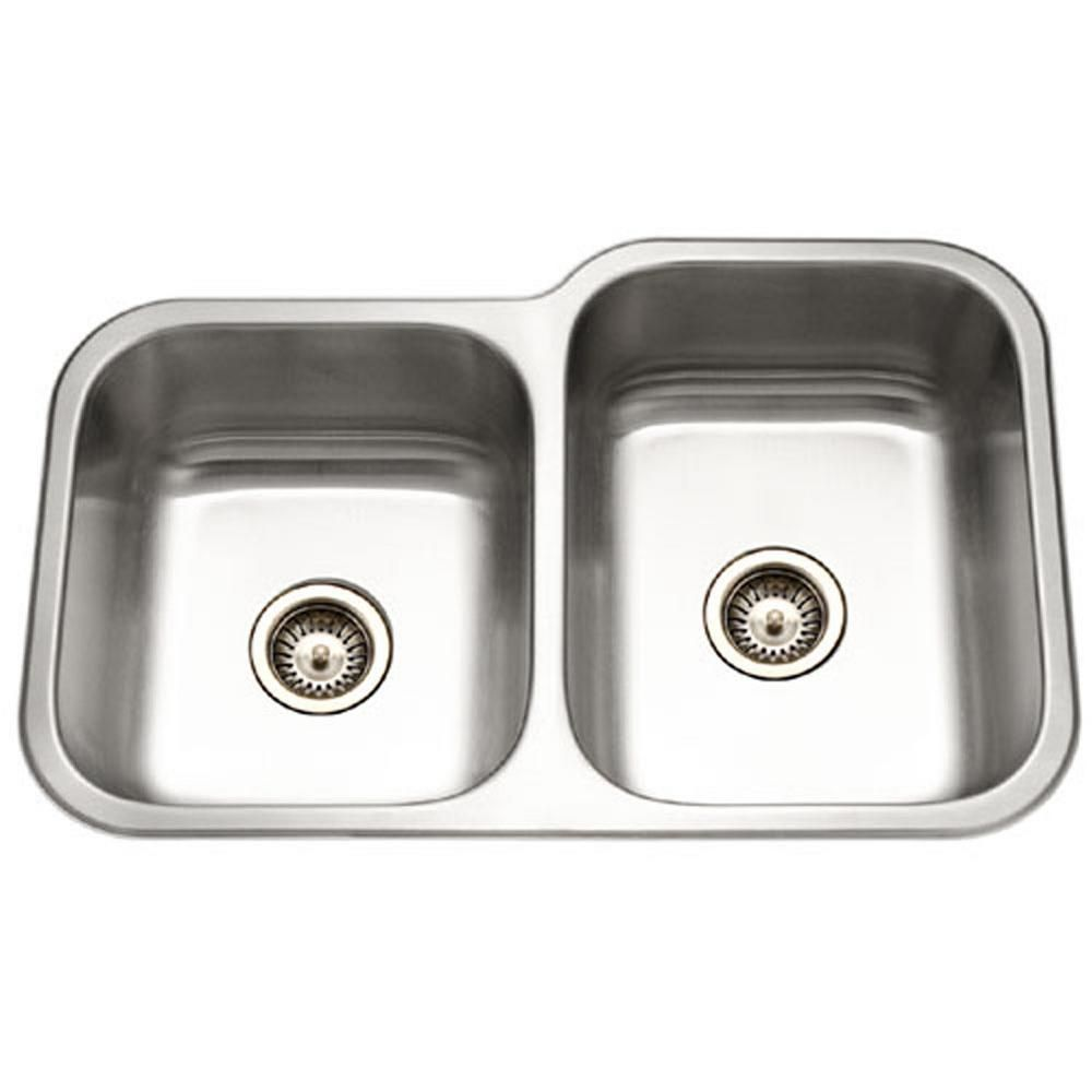 Houzer Elite Series Undermount Stainless Steel 32 In Double Bowl