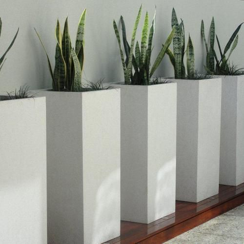Outdoor Planters And Urns | Pots U0026 Urns   Pot Gallery   Tall Square Light  Weight