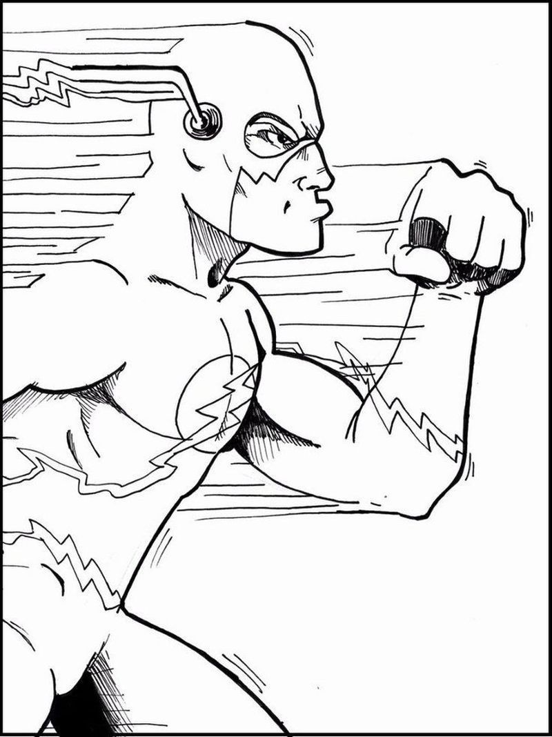 Flash Colouring Pages To Print Superhero Coloring Pages Superhero Coloring Coloring Books