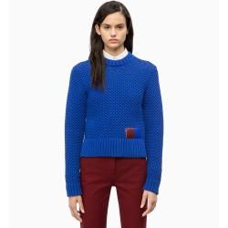 Photo of Calvin Klein sweater with honeycomb structure made of cotton blend L Calvin Klein
