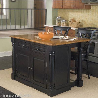 Grand Monarch Black Expandable Kitchen Island W Oak Top Portable Kitchen Island Kitchen Tops Granite Black Kitchen Island