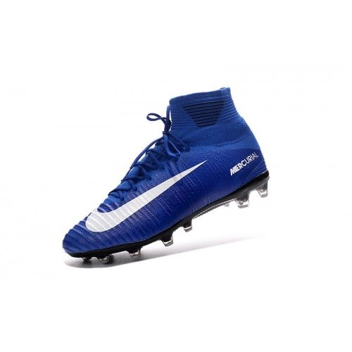 purchase cheap c7e41 c9695 Nike Mercurial - Barato Nike Mercurial Superfly V AG Azul Blanco Online  Botas De Futbol