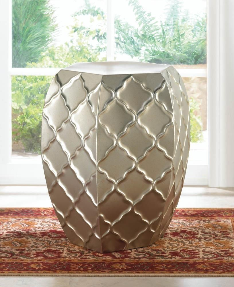 Details About Silver Moroccan Faceted Metal Outdoor