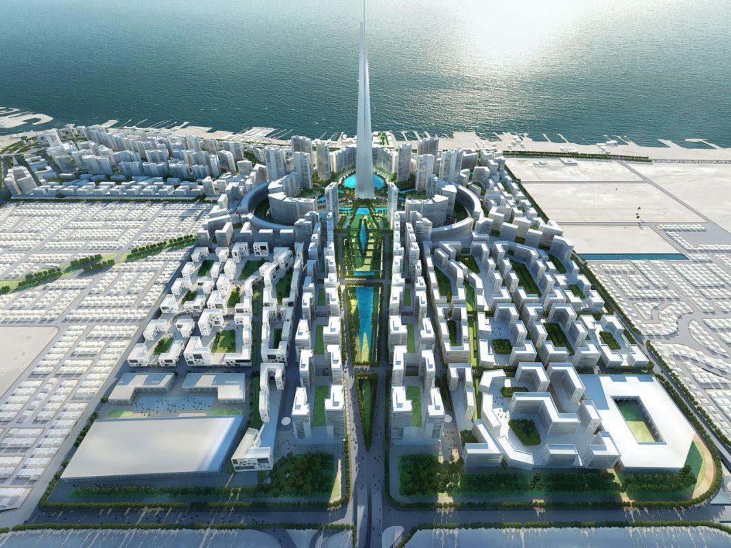 Burj al mamlakkah obhur jeddah development plan aerial for Burj al mamlakah