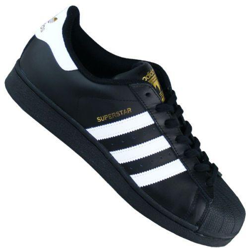 Adidas-Originals-Superstar-Herren-Skaterschuhe-schwarz-gold-NEU-