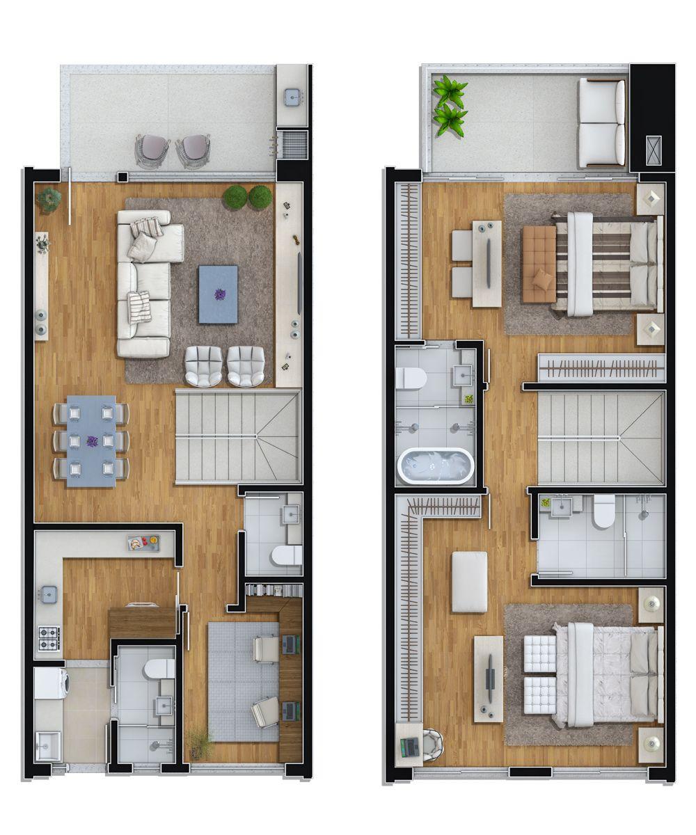 Planta tipo 1 3 suites 1 dorm favorite shipping for Departamentos pequenos modelos