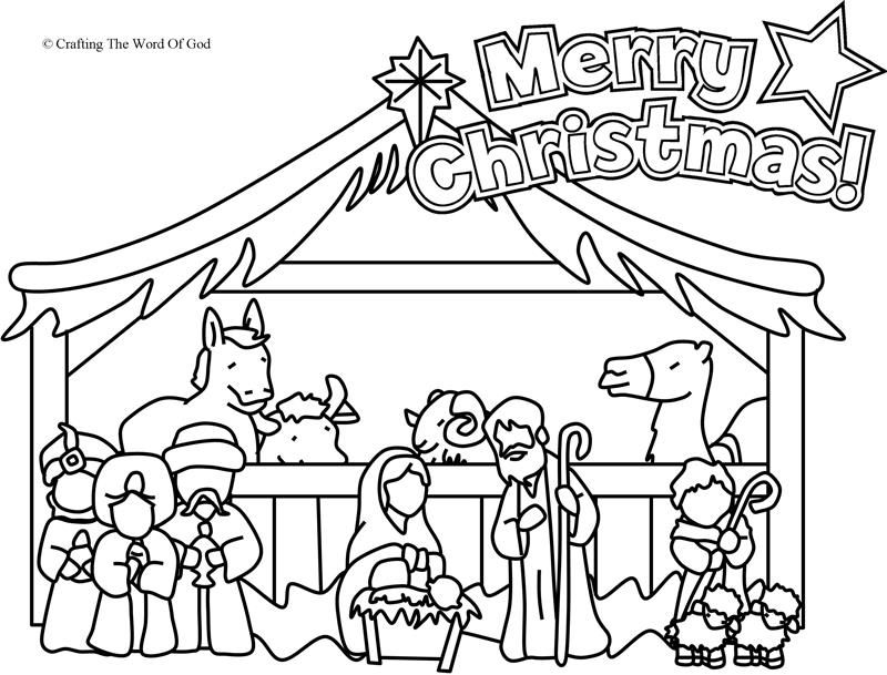 Nativity Coloring Page (Coloring Page) Coloring pages are