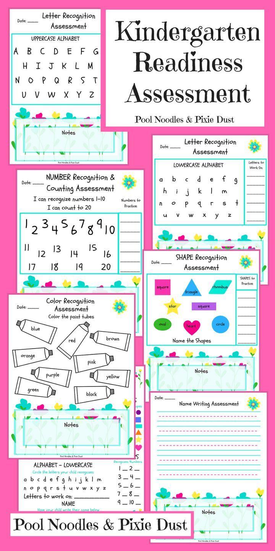 Kindergarten Readiness Assessment Pool Noodles Pixie Dust Kindergarten Readiness Kindergarten Readiness Assessment Homeschool Kindergarten Kindergarten readiness activities pdf