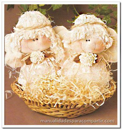 Manualidades para compartir angelitos souvenirs for Manualidades souvenirs navidenos