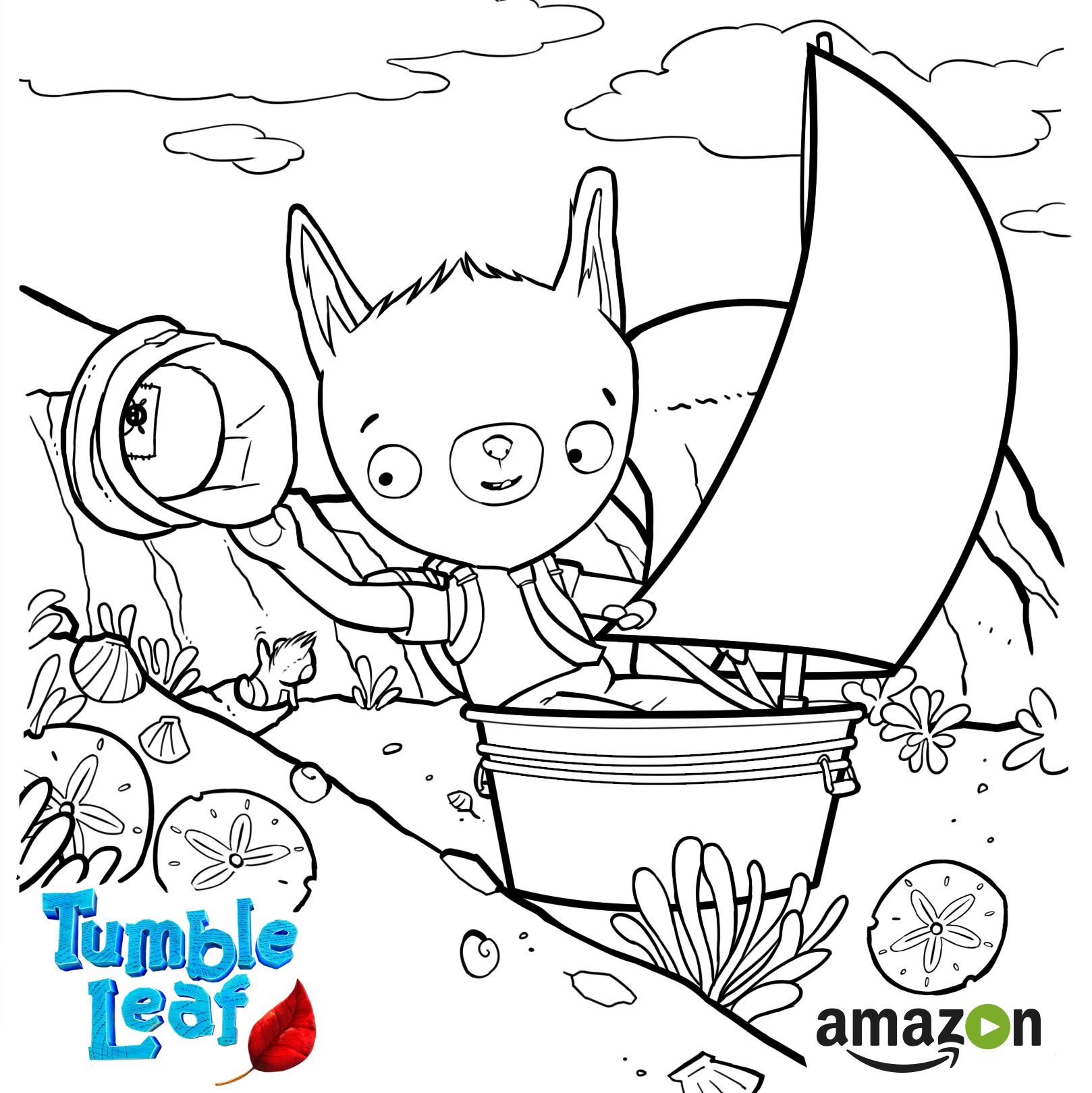 Coloring pages rainforest - New Season Of Tumble Leaf On Amazon Ad Download Coloring Page Rainforest Habitat Coloring Pages Printables