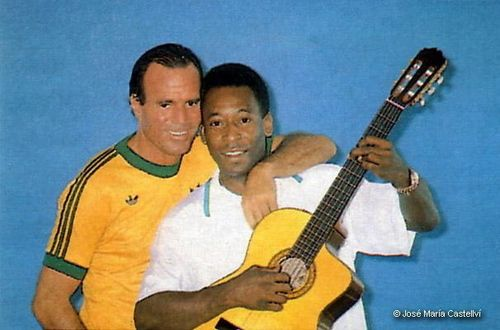 Image result for julio iglesias and pele