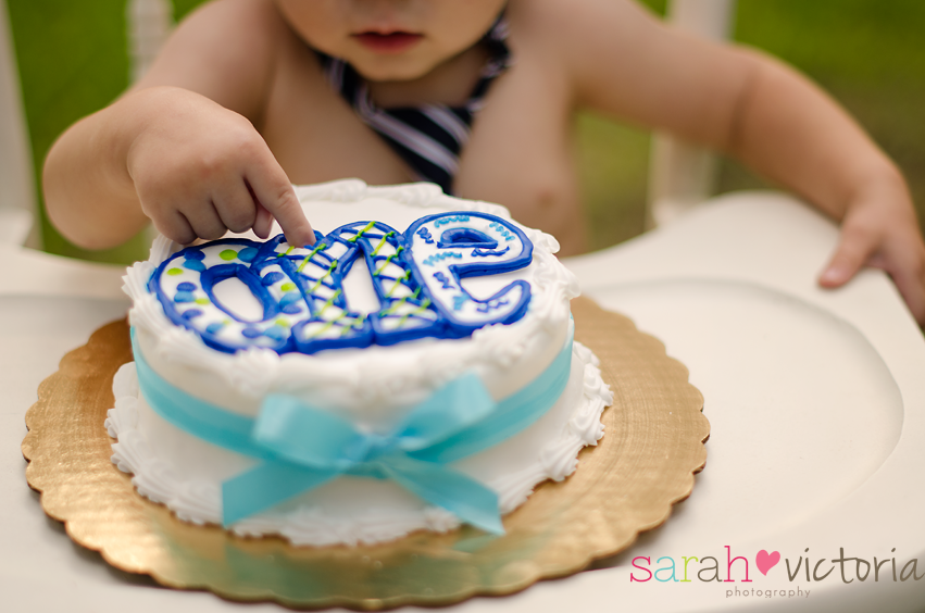 boy first birthday cake smash Friendswood Tx Photography