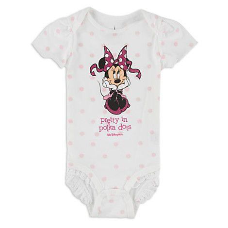 Minnie Mouse Pretty Polka Bodysuit For Baby Walt Disney World