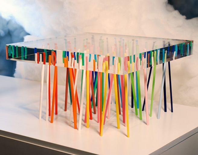 Harz Mbel Tische Drei Skulptur Selbermachen Schmuck Acryl Couchtische Glascouchtische Lucite