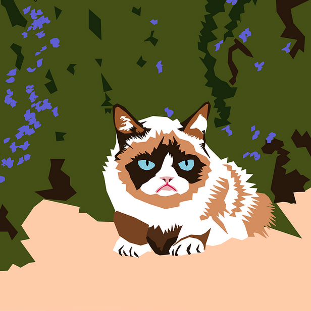 The Meme Idea Emerged In The 70s We Can T Let Generation Z Own This One Grumpy Cat Best Cat Memes Cat Art Print