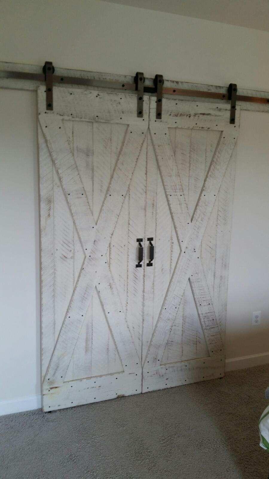 Reclaimed barnwood biparting barn doors reclaimed barnwood