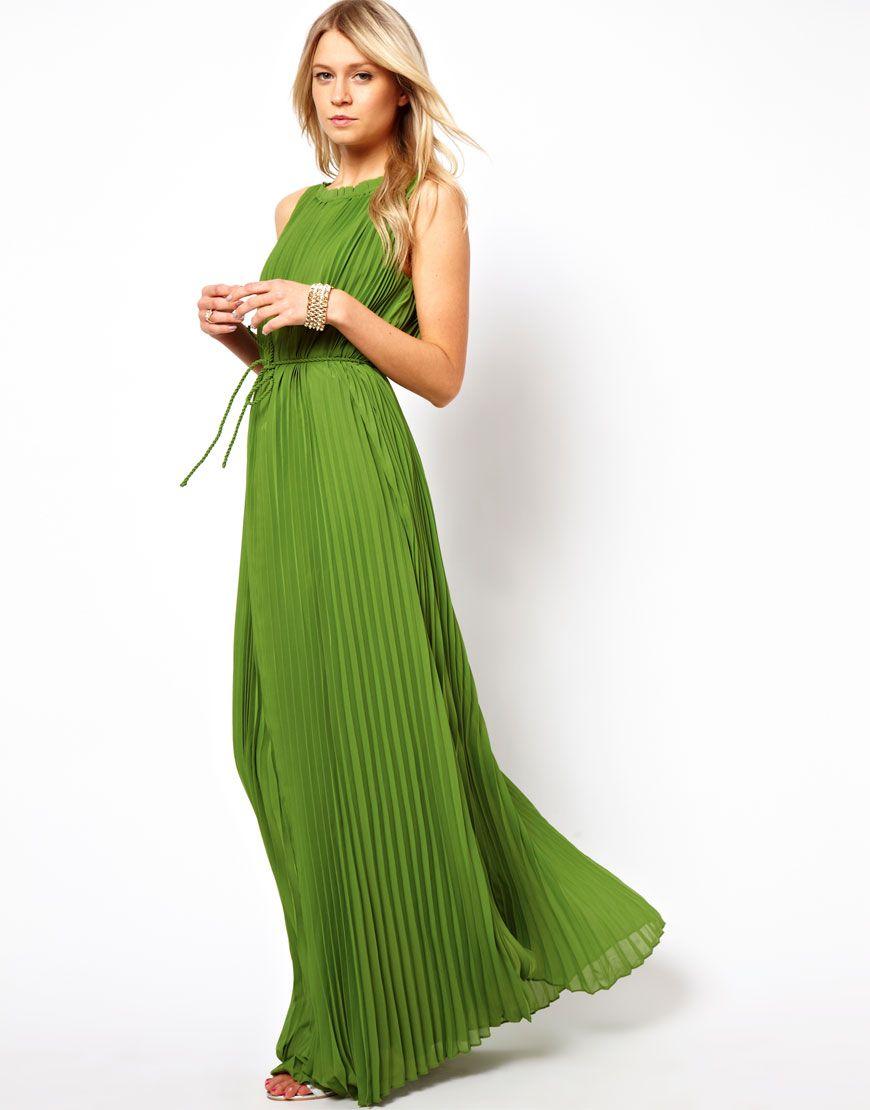 Ted Baker  Ted Baker Pleated Maxi Dress at ASOS  Lange kleider