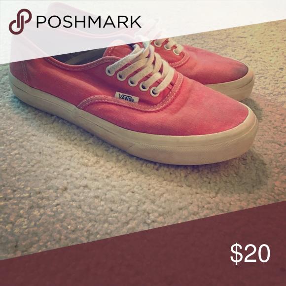 7e5172ba6d Vans sneakers Pink  red vans that have been lightly used Vans Shoes Sneakers