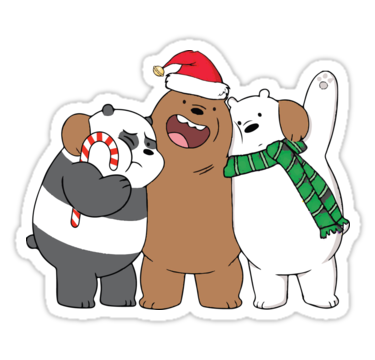 beary christmas sticker by mcholler. Black Bedroom Furniture Sets. Home Design Ideas