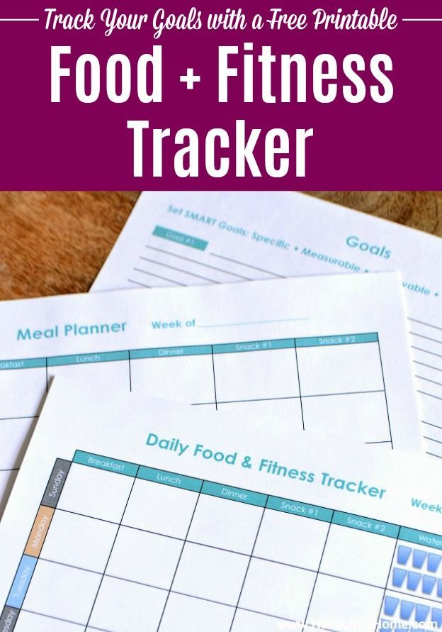 Free Printable Food and Fitness Tracker - #fitness #printable #tracker - #FitnessJournal
