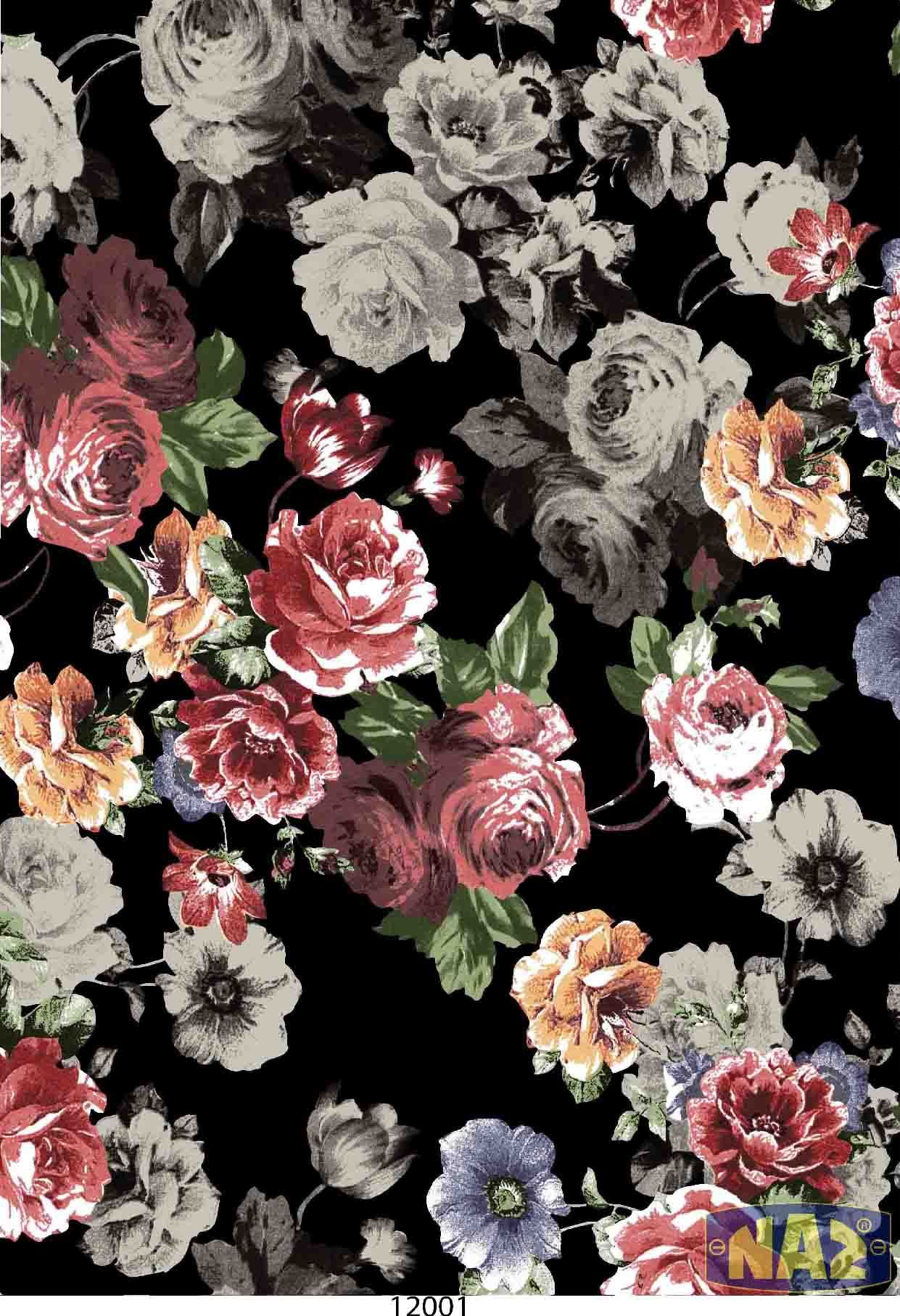 Pin By Naz Tekstil Baski Print House On Naz Design Big Flowers