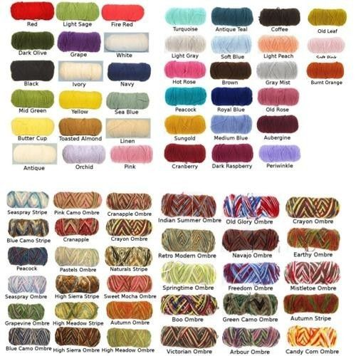 Red heart yarn color chart google search also  tools rh pinterest