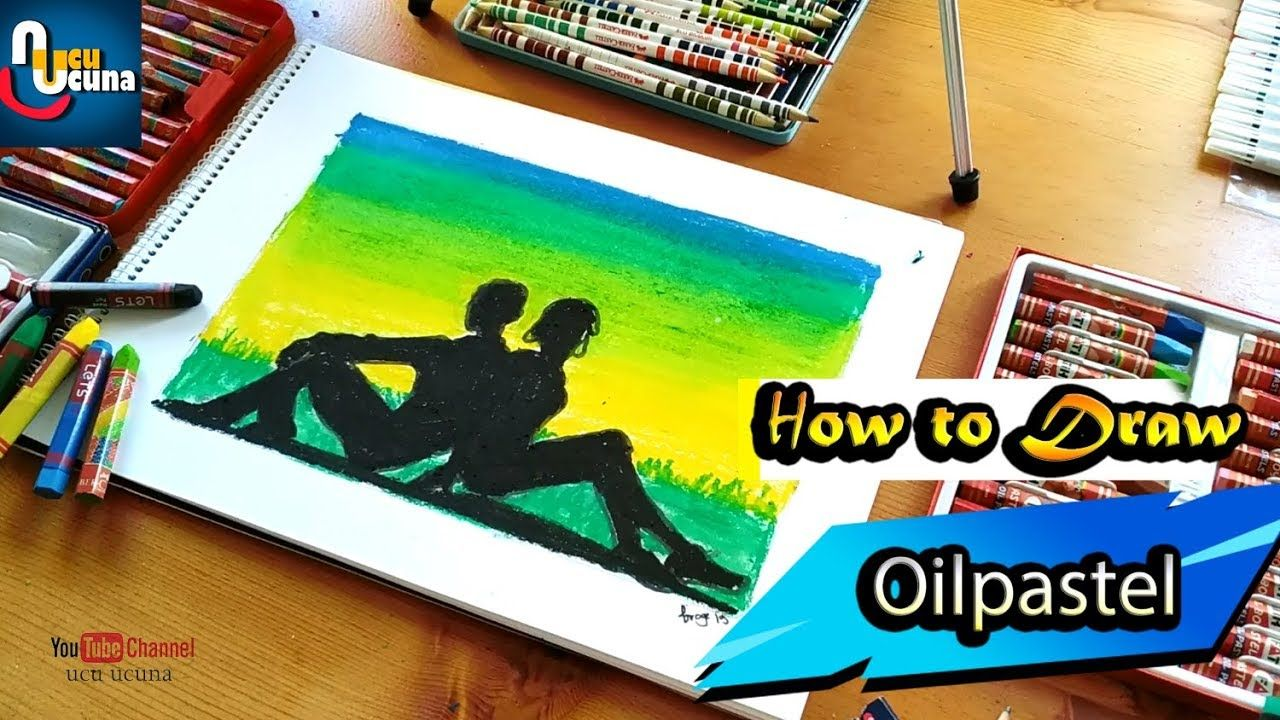 Pastel Boya Ile Cift Resmi Nasil Yapilir Cok Kolay In This Video I Show You How To Draw Couple Girl And Boy A Green Sc Oil Pastel Couple Drawings Drawings