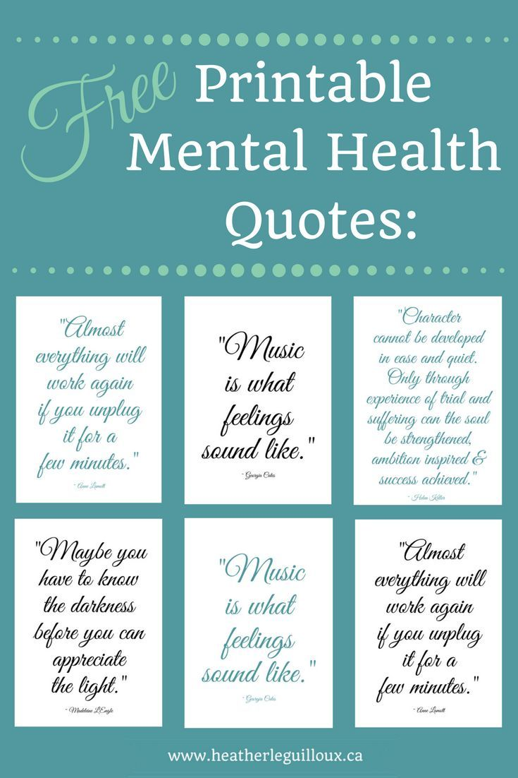 picture relating to Free Printable Quotes Pdf titled Totally free printable psychological fitness prices @hleguilloux based mostly upon
