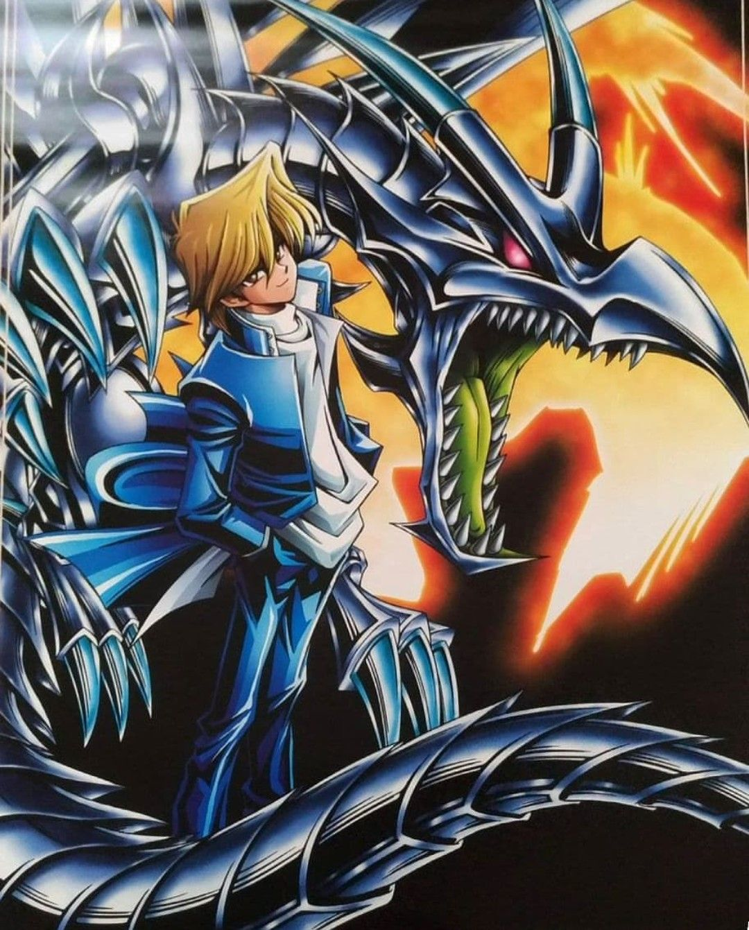 Joey And Red Eyes Yugioh Monsters Black Dragon Anime Art