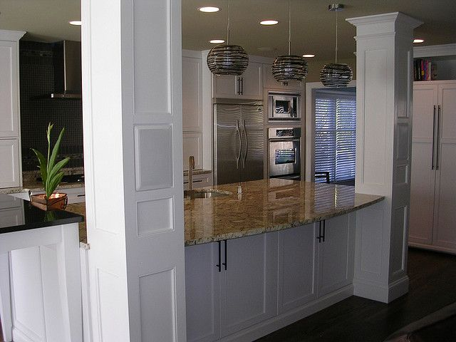 Kitchen Island With Columns kitchen island with columns - i like this style of column | for