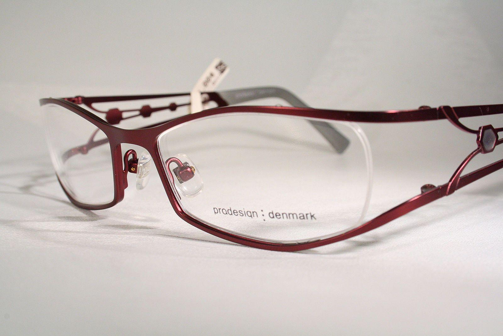 c24d0345f8f New PRODESIGN 5128 Satin Violet Purple Lilac Semi Rimless Womens Eyeglass  Frames