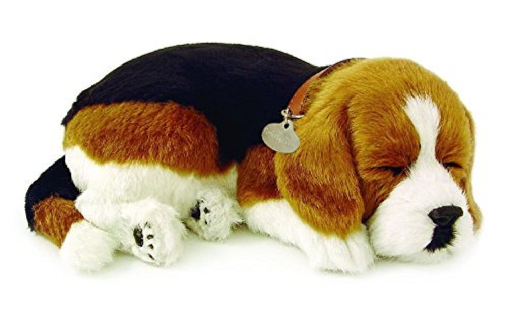Perfect Petzzz Sleeping Beagle Plush Battery Powered Breathing Toy
