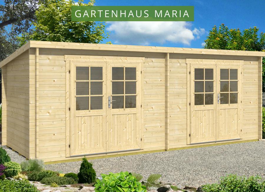Das Gartenhaus Maria 40 Twin Mit Zwei Raumen Perfekt Zum Aufbewahren Von Gartengeraten Und Zum Entspannen Gartenhaus Pultdach Gartenhaus Haus