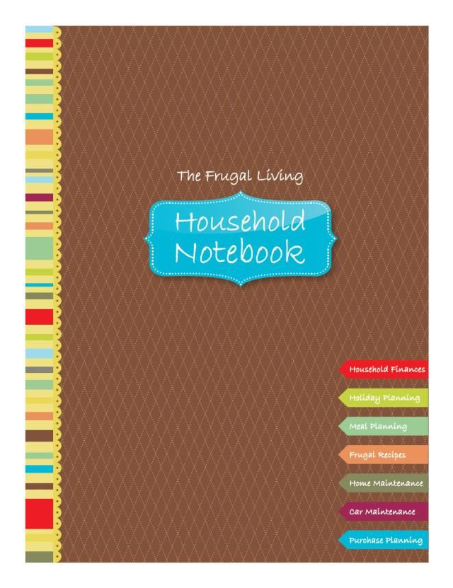 Your 7-Step Guide to Making a Personal Budget Household notebook