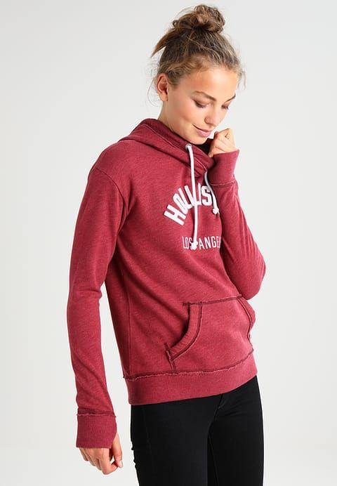 Hollister Co. CORE POPOVER Sweatshirt burgundy for