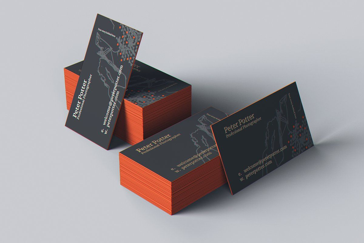business card mockup gigapack in 2020  business card mock
