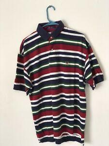 Details about VINTAGE Tommy Hilfiger Polo Shirt Men's Large