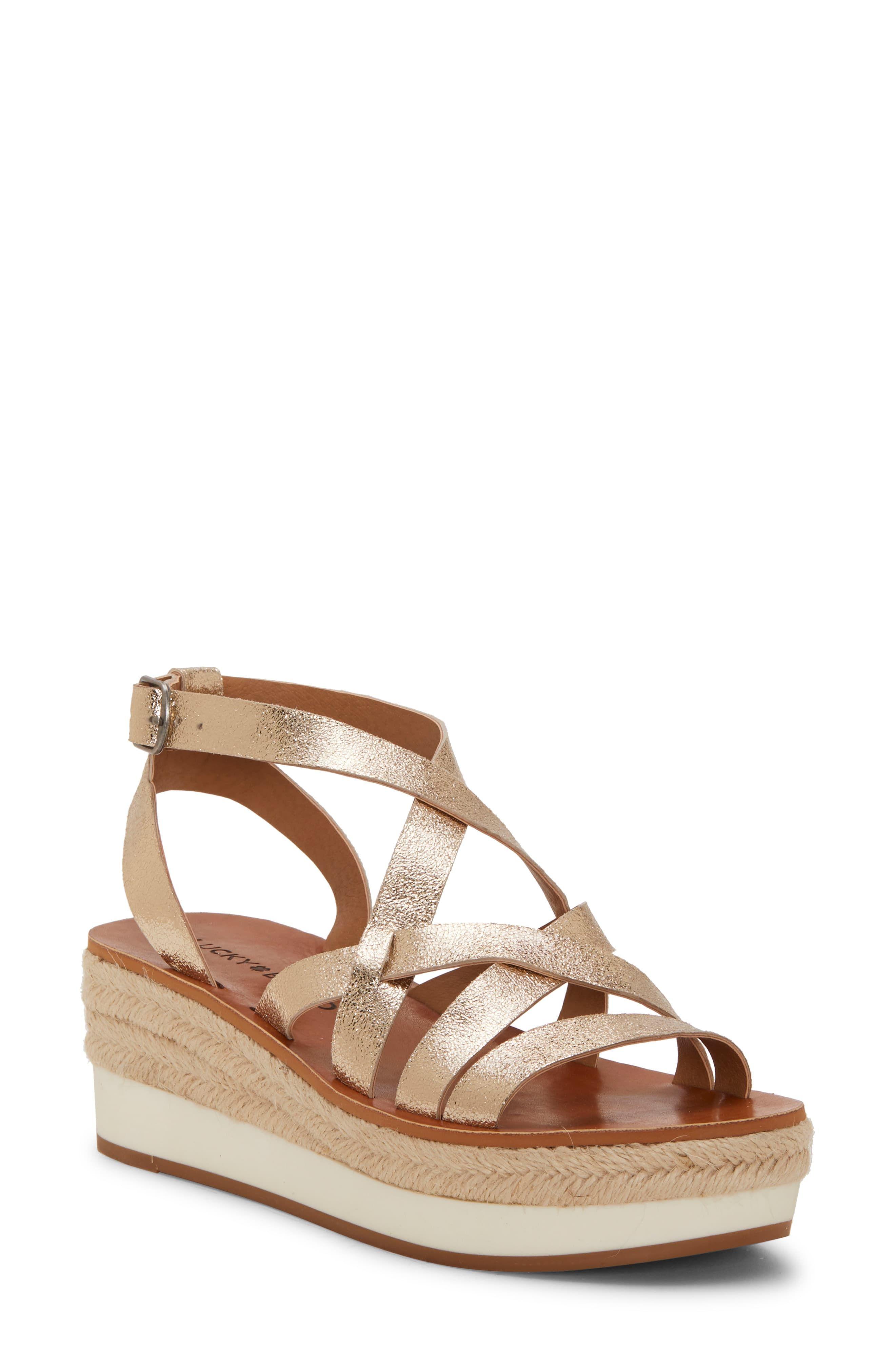 9bbc92992f0 Women's Lucky Brand Jenepper Platform Wedge Sandal, Size 8.5 M ...