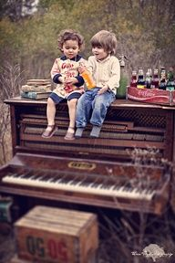 This is just precious! Bonding over music #piano #photoshoot #children