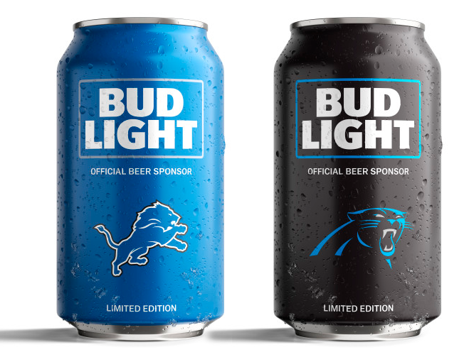 Bud Light S Popular Nfl Team Cans Are Back With A New Minimalist Design Bud Light Beer Bud Light Bud Light Can