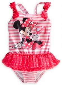 527e8780ad Minnie Mouse Deluxe Striped Swimsuit | Mickey Mouse & Minnie Mouse ...
