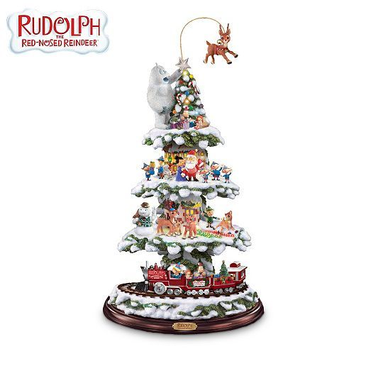 Rudolph And Friends Animated Christmas Town Express Train Tabletop