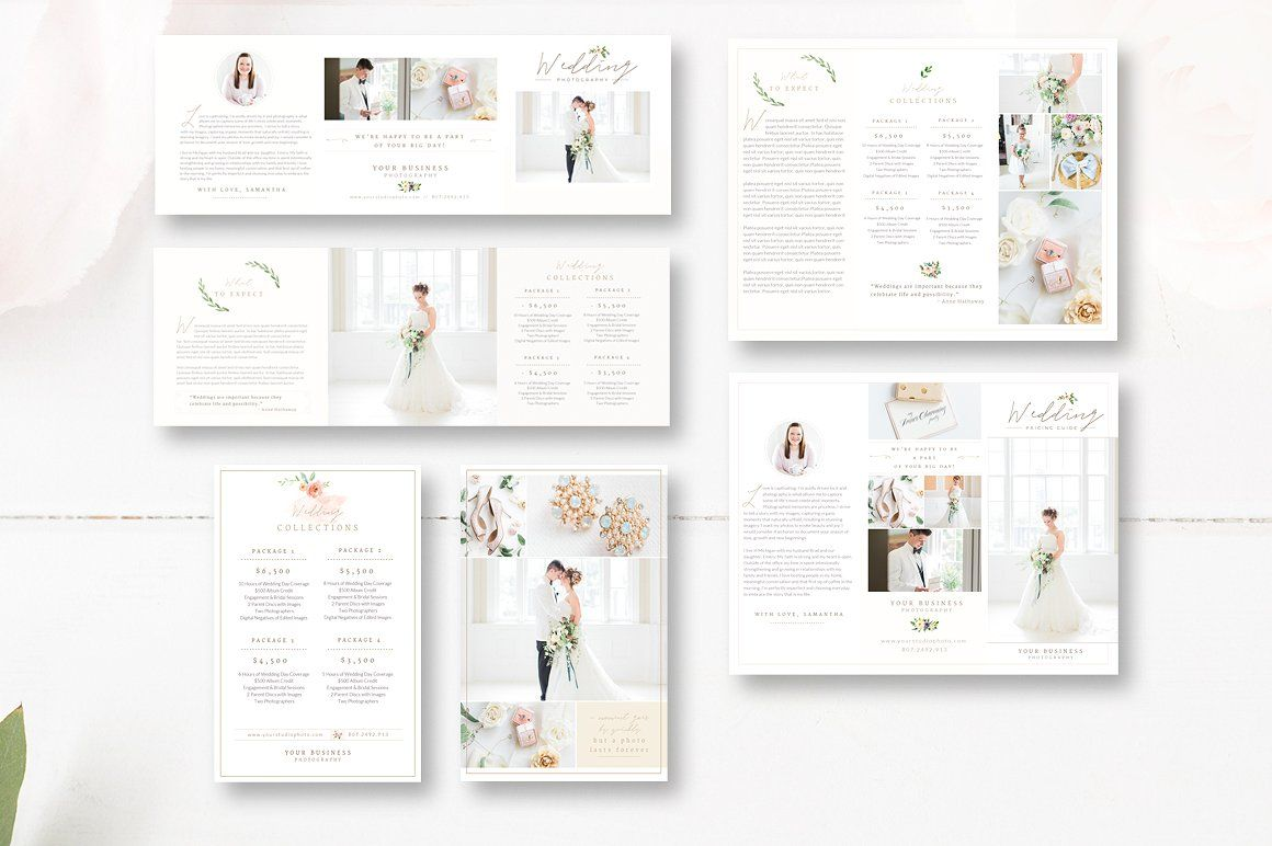 Complete Photography Marketing Set, Business Cards, Pricing Guides ...