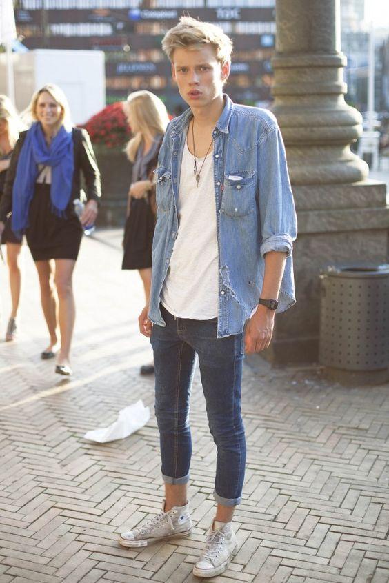 4e61c7da65 cuffed blue jeans