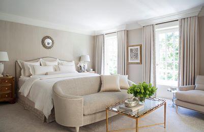 taupy beige monochromatic bedroom
