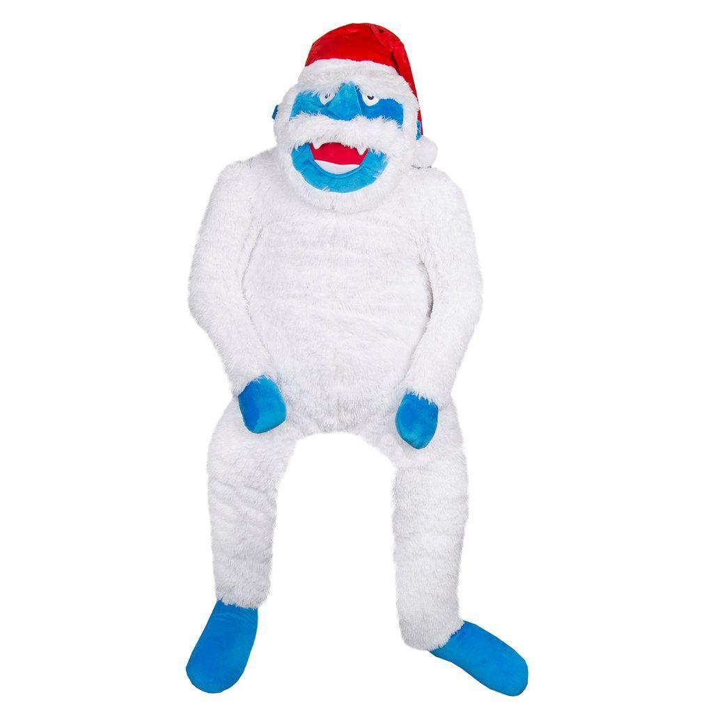 Bonnet Du Père Noël · Stuffed Animals · Bonhomme De Neige · Wembley 6-foot  Big Foot Stuffed Animal with Santa Hat, White 0fa00e0b90d