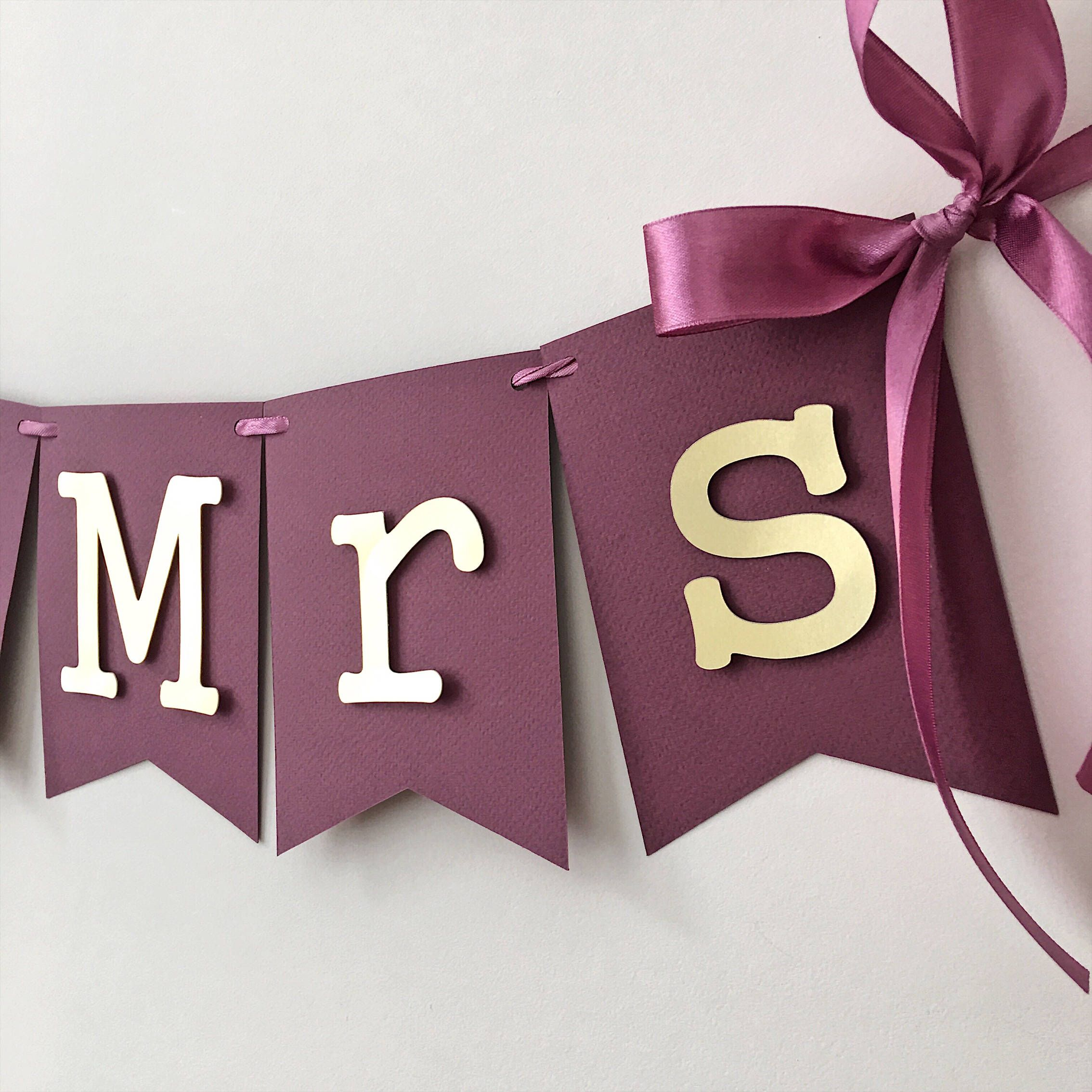 Engagement Party Banners  Couples Shower Banner  Purple Soon to be Mr and Mrs Banner  Bride to Be Sign  Engagement Party Ideas