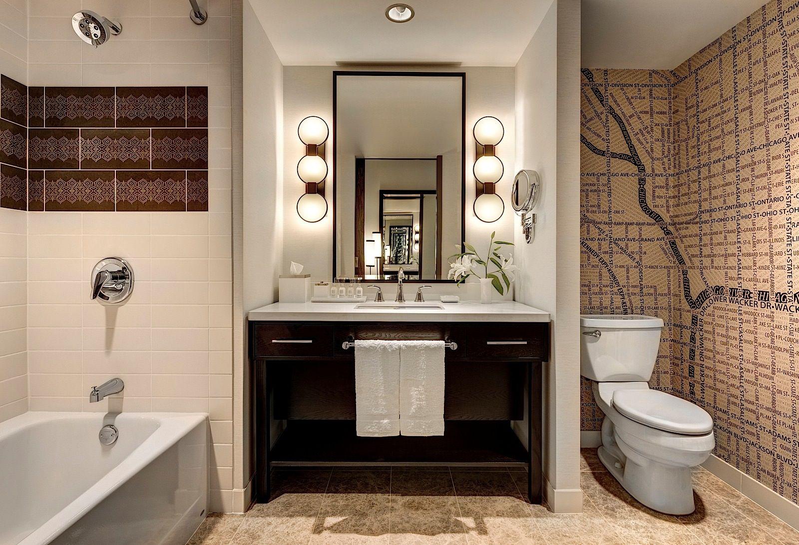loews chicago o 39 hare hotel room bathroom loews hotel chicago pinterest chicago luxury. Black Bedroom Furniture Sets. Home Design Ideas